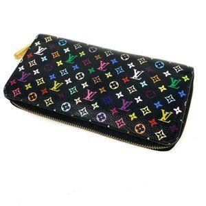 100% Auth Louis Vuitton Multicolor Zippy ZipWallet